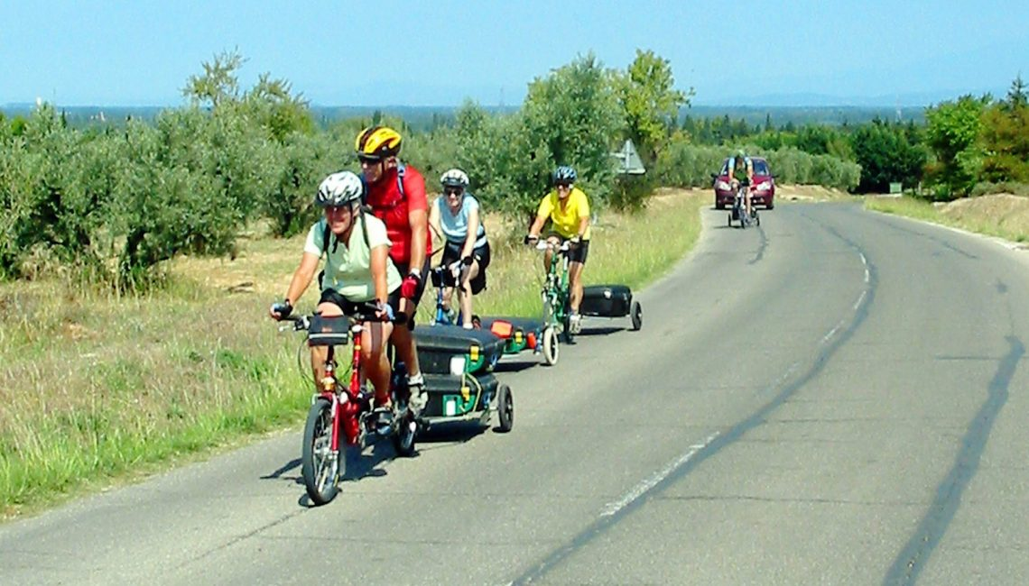 Bike Friday Tour group in France